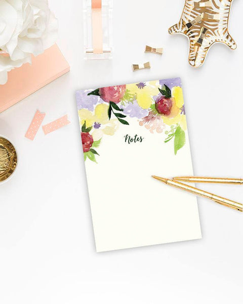 Notes - Cute Floral Watercolour Design