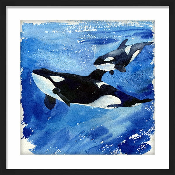 Katrina and Unna Orca Whale Art Print