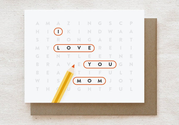 Mom Wordsearch Puzzle Card