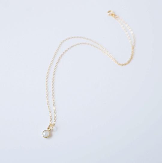 Cira Mini Gemstone Necklace -Gold