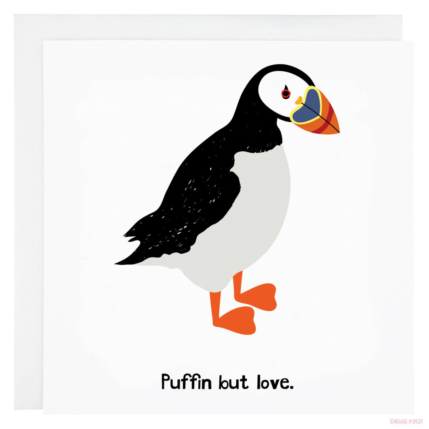 Puffin But Love Card