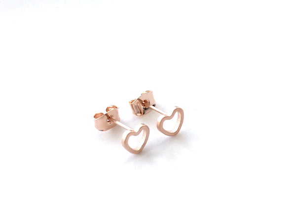 Heart Studs - Gold, Silver & Rose Gold
