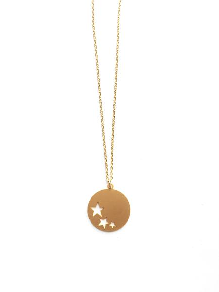 Three Stars Gold Necklace