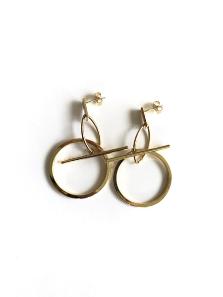 Taz Gold Earrings