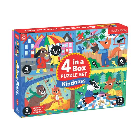 Kindness - 4 in a Box Puzzle Sets