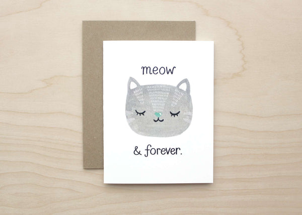 Meow and Forever Card