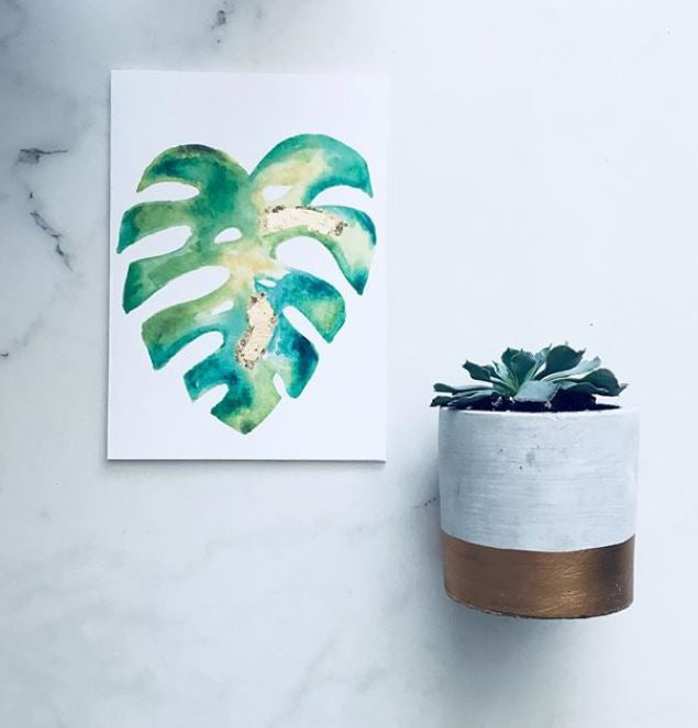Monstera Plant Greeting Card