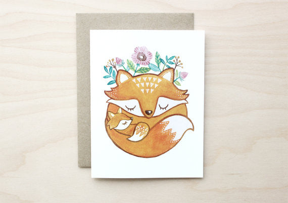 Mother Fox Card