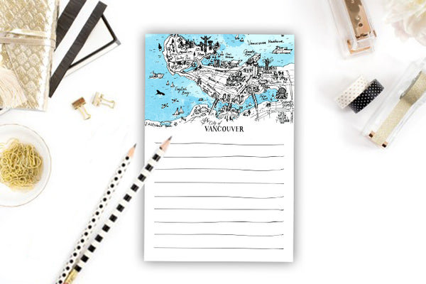 Vancouver Map Notepad