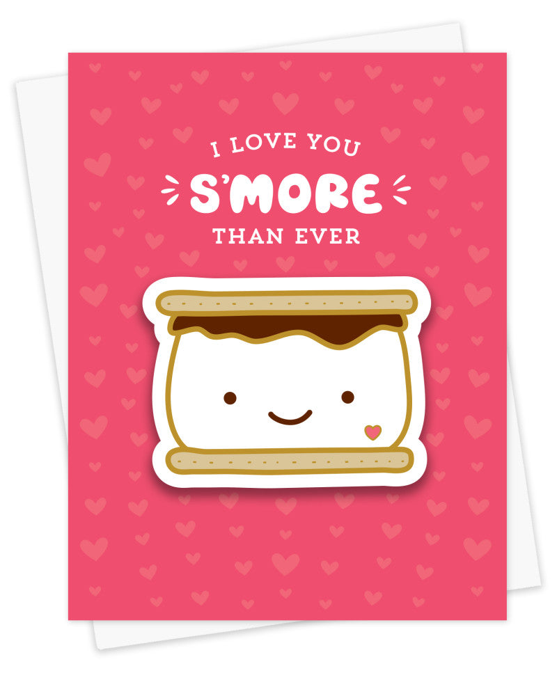 Love S'more Sticker Love Card