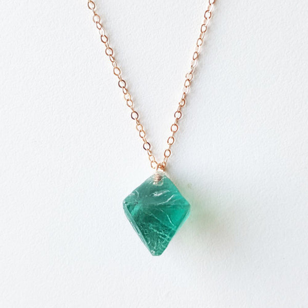 Poise Necklace - Blue Fluorite