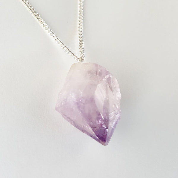 Cleansing Necklace - Amethyst & Silver Chain