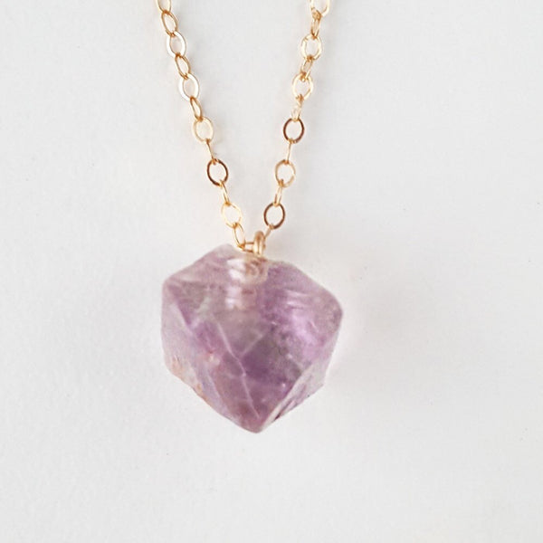Poise Necklace - Purple Fluorite