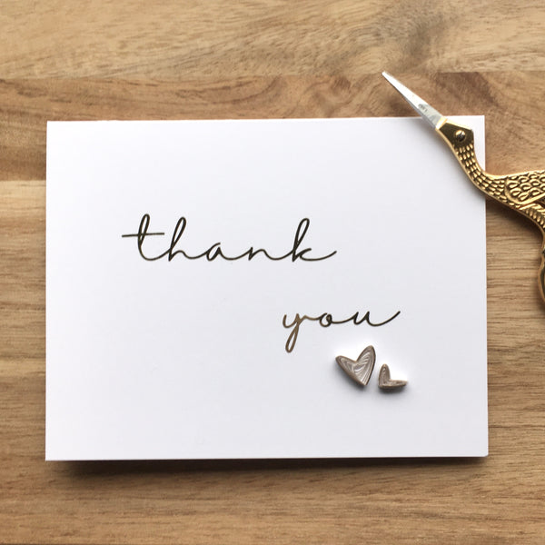 Thank You - Gold Foil Hearts