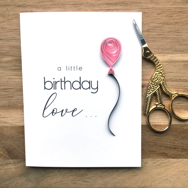 A Little Birthday Love Card