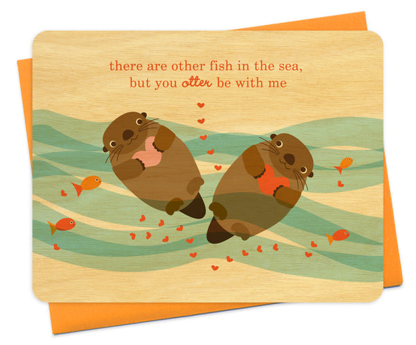 Otter Love Wood Card