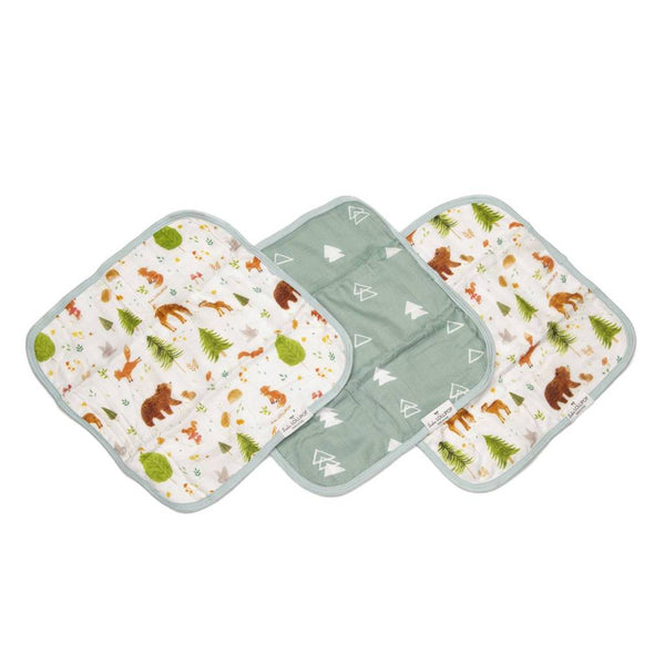 Washcloth 3-Pieces Set - Forest Friends