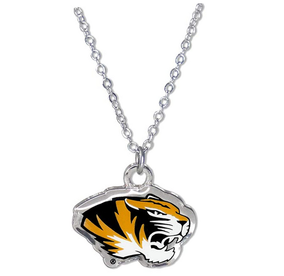 Tiger Necklace Tiger Eye Pendant Animal Chain Tiger Jewelry Gift University of Missouri Tigers 20in.