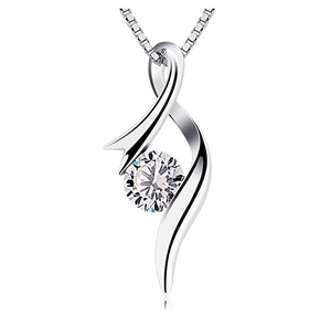 1/4 ct. Twist Necklace Simulated Diamond Stud Necklace Valentines Anniversary Gift Mothers Day Stud Chain 20in.