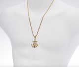 Jesus Anchor Pendant Jesus Cross Chain Jesus Christ Necklace Silver Rapper Iced Out Gold Silver Metal Alloy 24in.