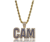 CAM Pendant Rapper CAM Necklace Cartoon Gold Diamond CAM Chain Iced Out 24in.