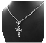 Cactus Jack Pendant Rapper Cactus Jack Necklace Cartoon Gold Diamond Cactus Jack Iced Out 24in.