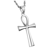 Egyptian Ankh Pendant Ankh Chain African Jewelry Silver Gold Color Metal Alloy Ankh Necklace 24in.
