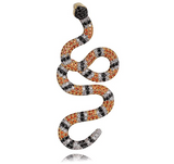Gucci Snake Pendant Gucci Mane Necklace Serpent Gold Color Metal Alloy Lil Uzi Vert Chain Hip Hop Simulated Diamond Dainty Coral Snake Iced Out 24in.