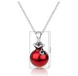 Red Pomegranate Pendant Pomegranate Fruit 925 Sterling Silver Hebrew Necklace Jewish Jewelry 24in.
