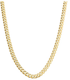 Gold Cuban Link Chain Hip Hop Rapper Jewelry