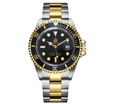 Green Face Watch Gold Silver Color Two Tone Sports Dress Watch Luxury Business Watch Quartz Submariner