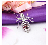 925 Sterling Silver Ant Pendant Necklace Ant Jewelry Insect Bug Chain Birthday Gift 18in.