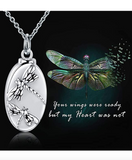 Dragonfly Urn Ash Necklace Dragonfly Cremation Jewelry Pendant Chain Birthday Gift 20in.