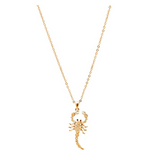 Scorpio Necklace Moving Tail Scorpion Jewelry Zodiac Chain Birthday Gift Gold Silver Color 18in.