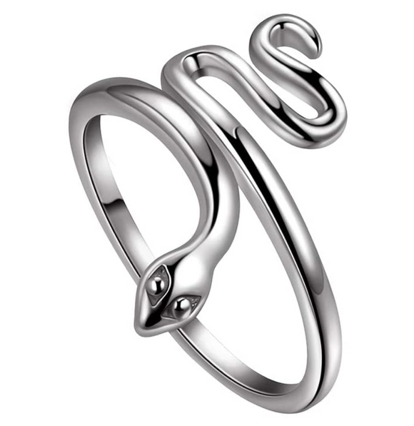 Snake Ring Snake Jewelry Serpent Ring Birthday Gift 925 Sterling Silver Gold Adjustable Ring