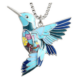 Hummingbird Necklace Pendant Humming birdJewelry Bird Chain Birthday Gift 16in.