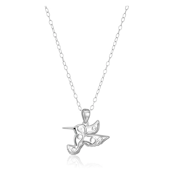 Bird Necklace Pendant Bird Jewelry Bird Chain Birthday Gift 925 Sterling Silver 18in.