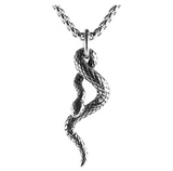 Twist Snake Necklace Snake Pendant Gothic Jewelry Snake Ring Chain Birthday Gift Gold Silver Tone 24in.