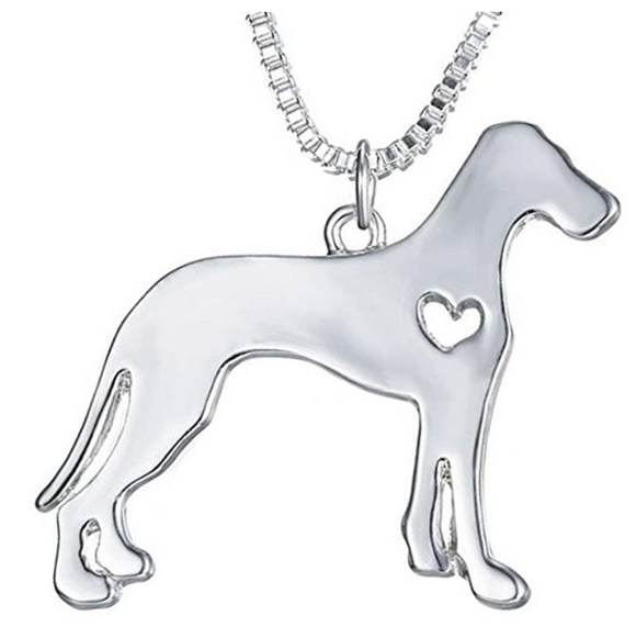 Heart Great Dane Necklace Great Dane Pendant Jewelry Dog Chain Love Doggy Puppy Birthday Gift 18in.