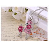 Pink Poodle Pendant Jewelry Poodle Necklace Poodle Dog Chain Doggy Puppy Birthday Gift 18in.