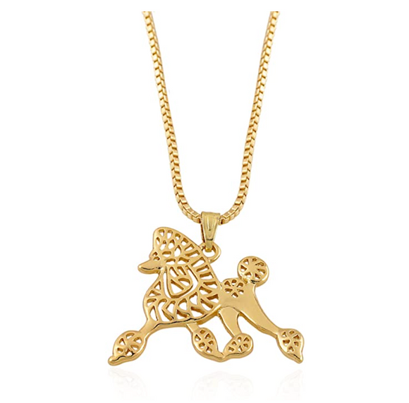 Sigma Gamma Rho Pendant Jewelry Poodle Necklace Poodle Dog Chain Doggy Puppy Birthday Gift 19in.