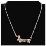 Wiener Dog Necklace Doggy Beagle Puppy Jewelry Dog Chain Dachshund Pendant Birthday Gift 925 Sterling Silver 18in.