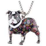 Pitbull Dog Necklace Doggy Puppy Jewelry Dog Chain Pitbull Pendant Birthday Gift 18in.
