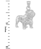 English Bulldog Necklace Jewelry Dog Chain Bulldog Pendant Doggy Puppy Birthday Gift 925 Sterling Silver 18in.