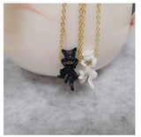 Black Cat Necklace Cat Hanging Pendant Jewelry Kitty Chain Birthday Gift 18in.