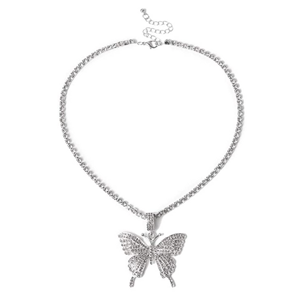 Big Butterfly Necklace Butterfly Pendants Jewelry Butterfly Chain Birthday Gift 18in.
