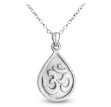 Ganesha Elephant Pendant Elephant Necklace Om Symbol Jewelry Hindu Lucky Chain 925 Sterling Silver 20in.