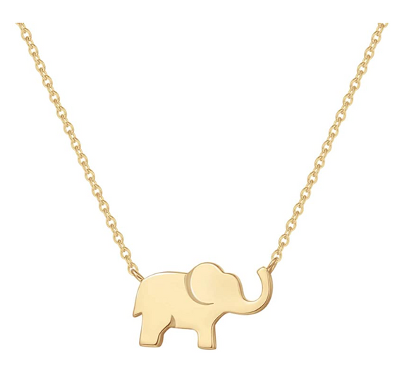 Small Lucky Elephant Pendant Necklace Elephant Jewelry Chain Gift 925 Sterling Silver 18in.