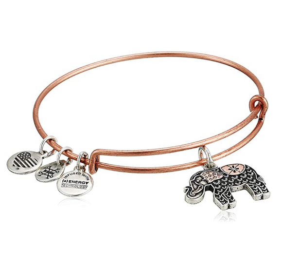 Lucky Elephant Bangle Bracelet Elephant Jewelry Rose Gold Silver Color Adjustable Bracelet