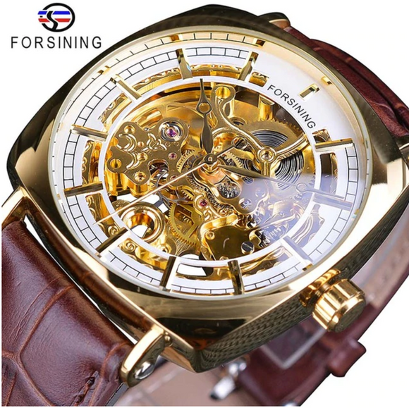 White Skeleton Mille Watch Business Luxury HipHop Patek AP Mechanical Leather Design